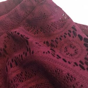Maurices Dresses - Maurices maroon strapless ruffle dress Large NWT